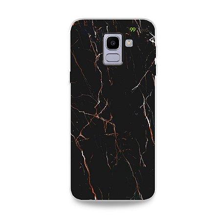 Capa para Galaxy J6 - Marble Black