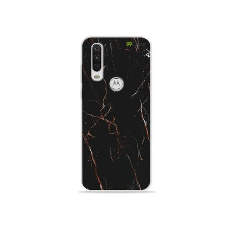 Capa para Moto One Action - Marble Black