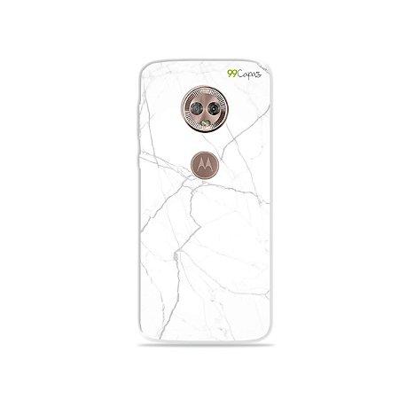Capa para Moto G6 - Marble White