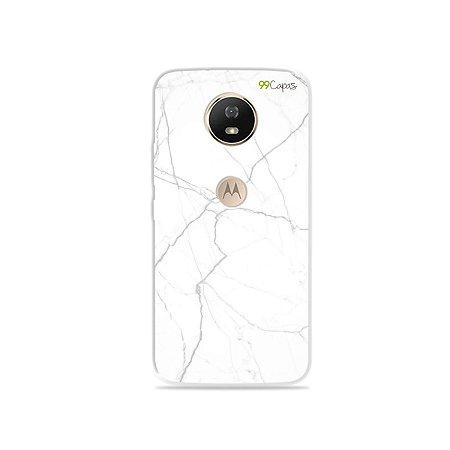 Capa para Moto G5S - Marble White