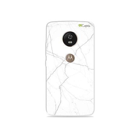 Capa para Moto G5 - Marble White