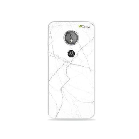 Capa para Moto E5 - Marble White