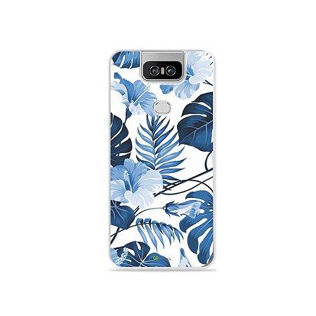 Capa para Zenfone 6 - Flowers in Blue