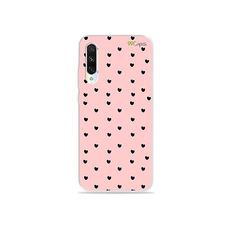Capa para Xiaomi Mi A3 - Corações Preto