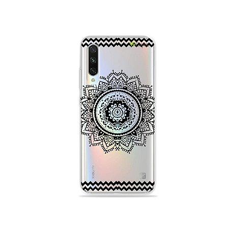 Capa para Xiaomi Mi A3 - Mandala Preta