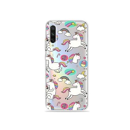 Capa para Xiaomi Mi A3 - Unicórnios Felizes