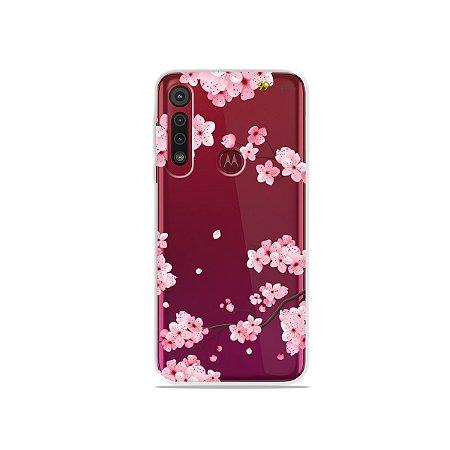 Capa para Moto G8 / G8 Plus - Cerejeiras
