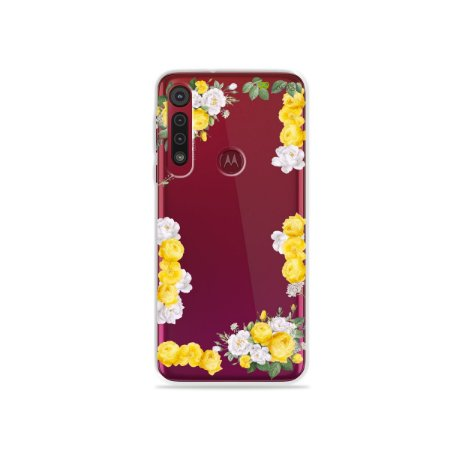 Capa para Moto G8 Plus - Yellow Roses