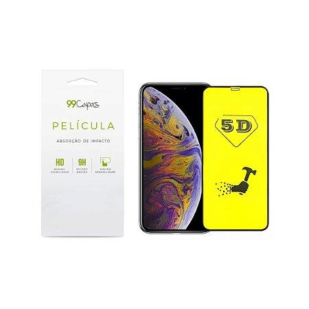 Película de Gel 5D flexível (borda preta) para iPhone XR - 99Capas