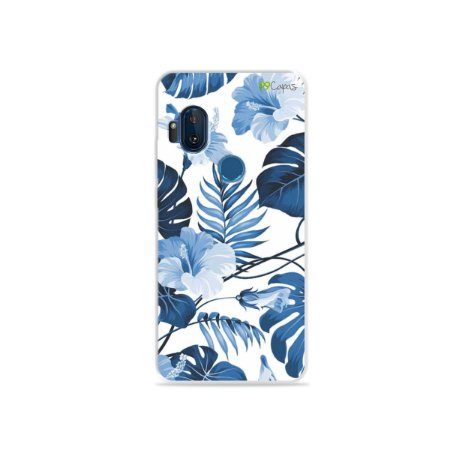 Capa para Moto One Hyper - Flowers in Blue