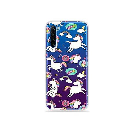 Capa para Xiaomi Redmi Note 8T - Unicórnios Felizes