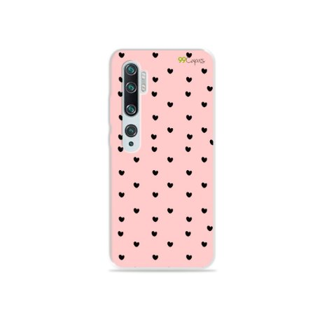 Capa para Xiaomi Mi Note 10 - Corações Preto