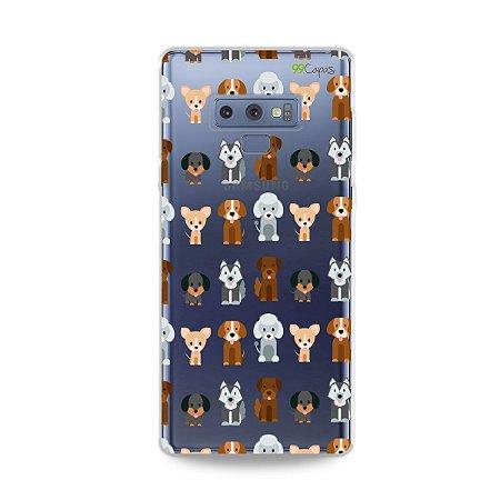 Capa para Galaxy Note 9 - Doguinhos