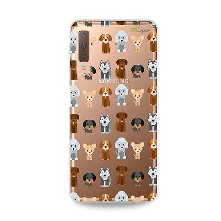 Capa para Galaxy A7 2018 - Doguinhos