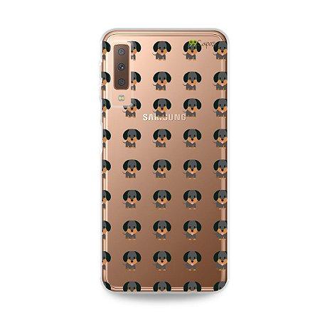 Capa para Galaxy A7 2018 - Salsichinha