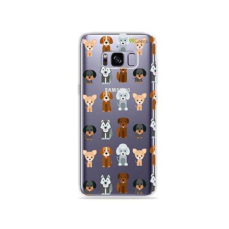 Capa para Galaxy S8 - Doguinhos