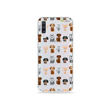 Capa para Galaxy A70 - Doguinhos