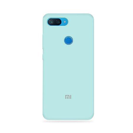 Silicone Case Azul Claro para Mi 8 Lite - 99Capas