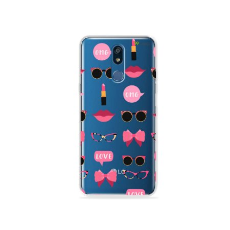 Capa (transparente) para LG K12 Plus - Girls