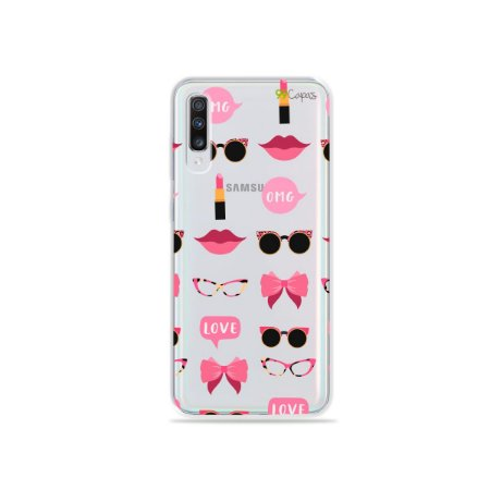 Capa (transparente) para Galaxy A70 - Girls