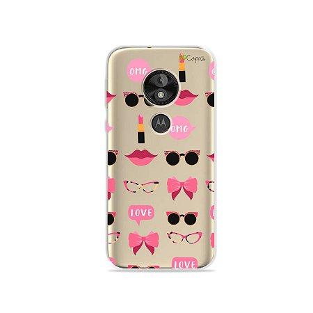 Capa (transparente) para Moto E5 Plus - Girls