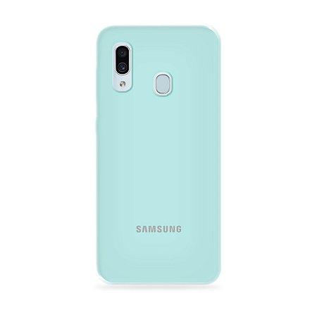 Silicone Case Azul Claro para Galaxy A30 - 99Capas