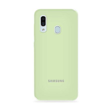 Silicone Case Menta para Galaxy A30 - 99Capas