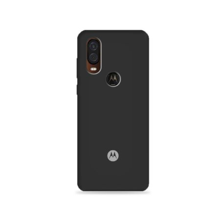 Silicone Case Preta para Moto One Vision - 99Capas