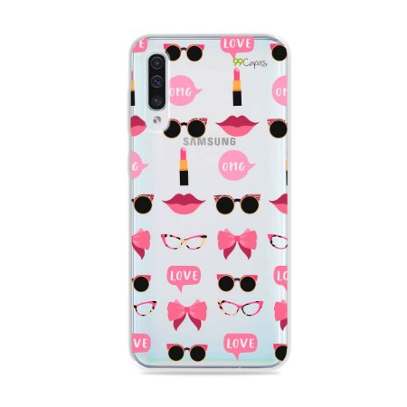 Capa (transparente) para Galaxy A50 - Girls