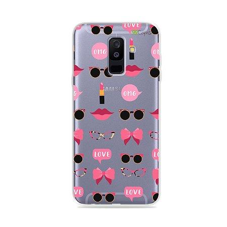 Capa (transparente) para Galaxy A6 Plus - Girls
