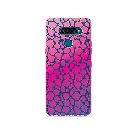 Capa para LG K50s - Animal Print Pink