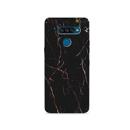 Capa para LG K50s - Marble Black