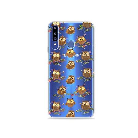 Capa para Galaxy A20s - Corujinhas