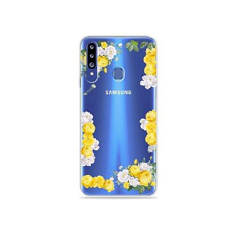 Capa para Galaxy A20s - Yellow Roses
