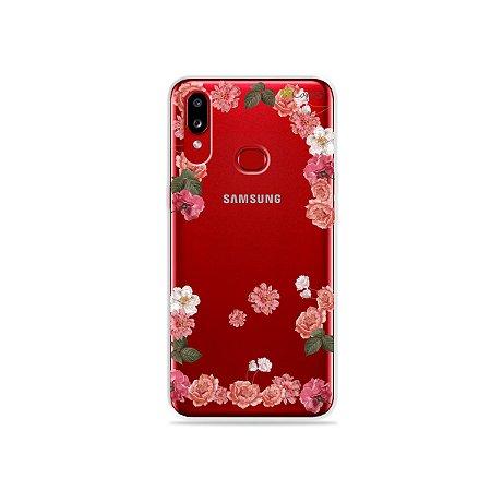 Capa para Galaxy A10s - Pink Roses