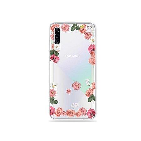 Capa para Galaxy A30s - Pink Roses