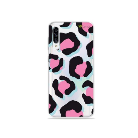 Capa para Galaxy A30s - Animal Print Black & Pink