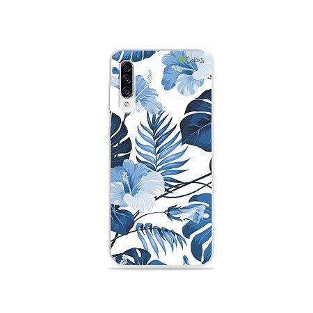 Capa para Galaxy A30s - Flowers in Blue
