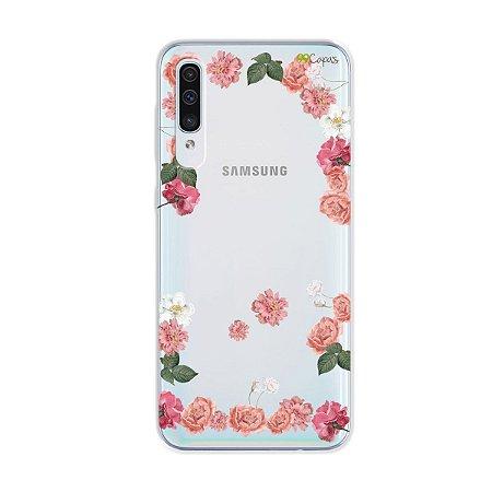 Capa para Galaxy A50s - Pink Roses