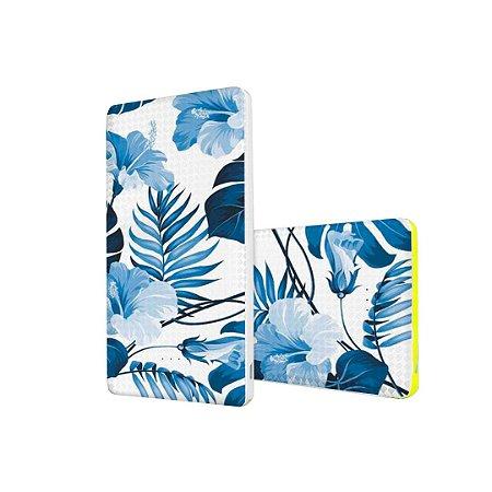 Carregador Portátil Powerbank Pineng 10000mah - Flowers in Blue