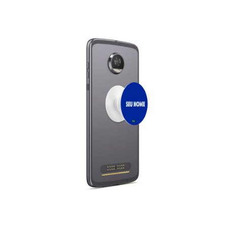 Popsocket Azul Royal - Com Nome