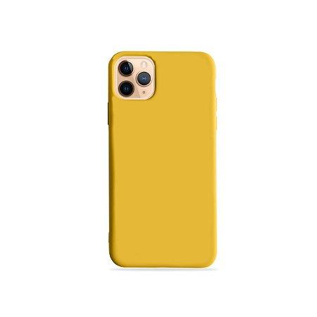 Silicone Case Amarela para iPhone 11 Pro Max (acompanha Pop Socket) - 99Capas