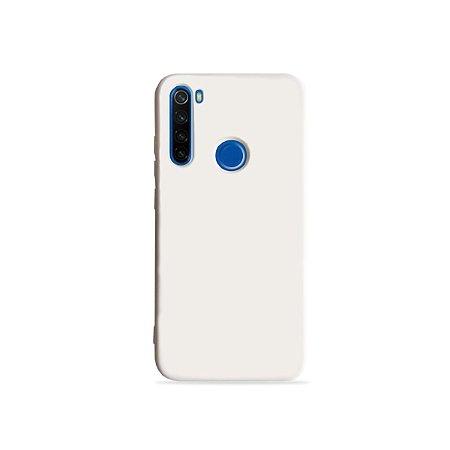 Silicone Case Branca para Redmi Note 8 (acompanha Pop Socket) - 99Capas