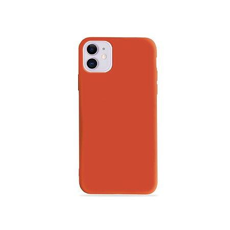 Silicone Case Laranja para iPhone 11 (acompanha Pop Socket) - 99Capas
