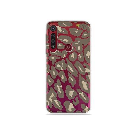 Capa para Moto G8 Play - Animal Print Nude