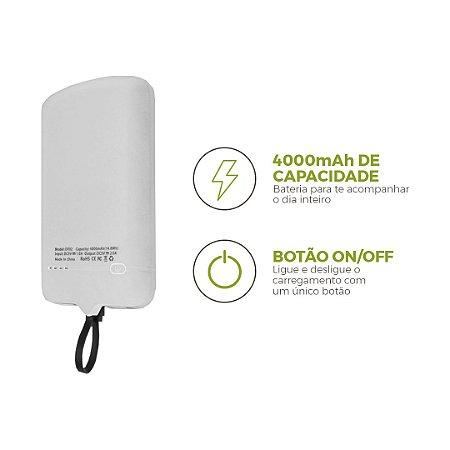 99Snap Powerbank - Micro USB V8 ( Carregador portátil para celular) Branco