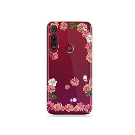 Capa para Moto G8 Play - Pink Roses
