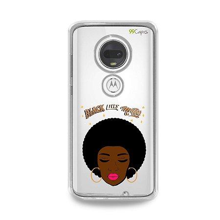 Capinha (transparente) para Moto G7 Plus - Black Lives