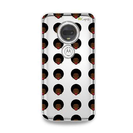 Capinha (transparente) para Moto G7 Plus - Black girl