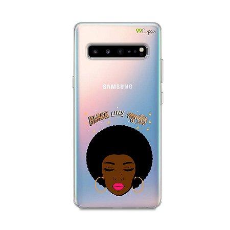 Capinha (transparente) para Galaxy S10 - Black Lives